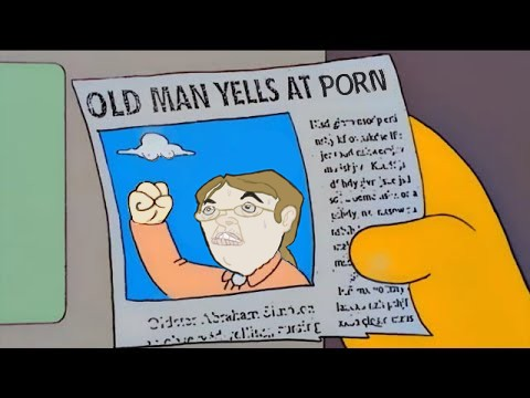 Old Man Yells At Porn